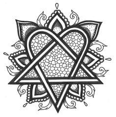 Heartagram mandala by XxEchelonReveusexX.deviantart.com on @DeviantArt