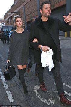 Model behavior: Hailey Baldwin made a casual style statement in an oversized slate-grey sw...