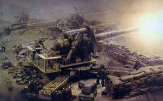 40k - Imperial Guard Earthshaker Gun Emplacements
