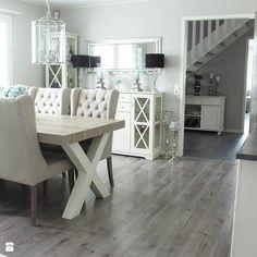 Krzesło tapicerowane z kołatką uszak styl prowansalski CZARNE KEITH - zdjęcie od PRIMAVERA-HOME.COM Office Desk, Dining Bench, Furniture, Home Decor, Desk Office, Decoration Home, Desk, Table Bench, Room Decor