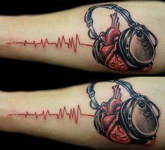 headphone tattoo - Google Search