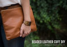 Beaded Leather Cuff DIY