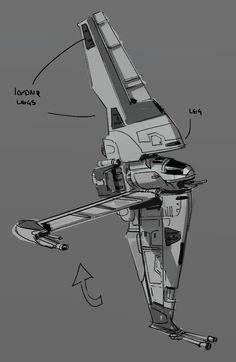 ArtStation - D-wing ILM challenge the Ride, Roberto Robert
