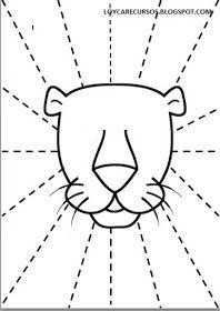 Free Printable Trace Line Worksheet for Kids - Preschool and Kindergarten Cutting Activities, Motor Activities, Infant Activities, Kindergarten, Preschool Curriculum, Preschool Activities, Lion Craft, Cutting Practice, Scissor Skills