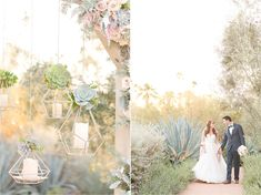 Kristin & Luke's navy and blush El Chorro wedding in Paradise Valley, Arizona with Imoni Events photography by Amy and Jordan Photography. Amy And Jordan, Hanging Candles, Paradise Valley, Wedding Flowers, Wedding Dresses, Event Photography, Blush, Navy, Cacti