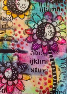 Colour play art journal page. Makes me happy !!! | by Tr4cy1973