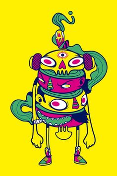 Illustrations and icons made for a music festival by Raul Urias