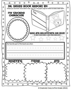 READ ACROSS AMERICA WEEKLY HOMEWORK MINI BOOK REPORT - TeachersPayTeachers.com