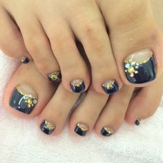 Black Toe Nail Art nailbook.jp