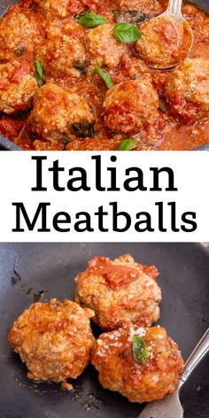 These are my Mom's Traditional Italian Meatballs, a fast and delicious Italian Recipe. Made with beef, Parmesan cheese and Italian spices in a delicious tomato sauce. These Meatballs are going to be your family's favourite new recipe. Italian Meats, Italian Spices, Italian Dishes, Italian Cooking, Side Dish Recipes, Veggie Recipes, Cooking Recipes, Kitchen Recipes, Chicken Recipes