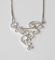 Hand made silver necklace by Frances Stunt available at Franny & Filer jewellery shop in Chorlton - www.frannyandfiler.com - £50