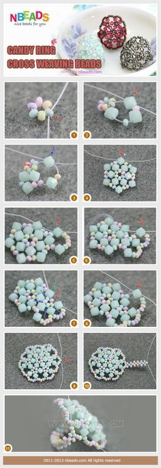 Candy Ring-Cross Weaving Beads diy crafts jewelry crafts diy crafts
