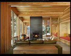 modern organic interior living room