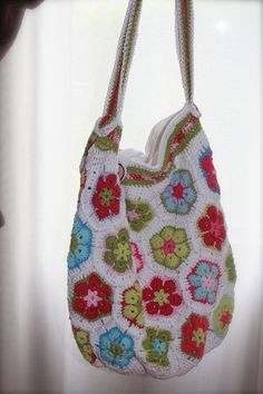 crochet summer bag patterns | African Flowers Summer bag | Flickr - Photo Sharing!