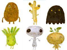 for my little boy  : cute vegetables / pour mon petit garçon : légumes trop mignons