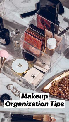 Makeup Drawer Organization, Makeup Storage, Organization Hacks, Makeup Collection Storage, Bedroom Organization, Natural Makeup For Brown Eyes, Natural Makeup Looks, Best Workwear, Makeup Containers