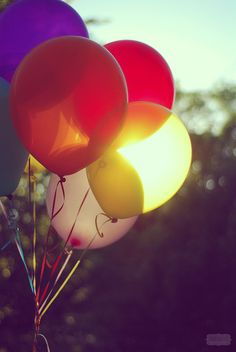color + light + balloons