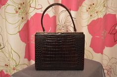 Vintage dark brown Kelly style by ClaireLouVintage on Etsy