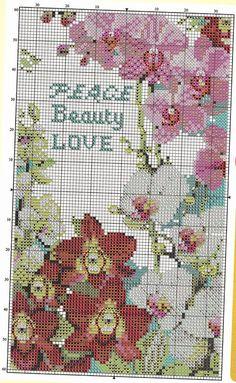 ♥Meus Gráficos De Ponto Cruz♥ Quadros Rosas e Orquídeas em Ponto Cruz