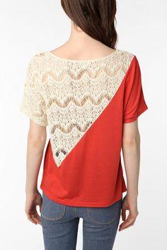 color block lace - back