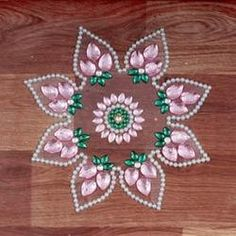 Kundan Rangoli Festive Crafts, Diy And Crafts, Festival Decorations, Rangoli Designs, Diwali, Paisley Print, Beads, Holiday Decor, Acrylics
