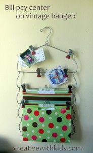 Office organizing: Bill Pay Center made a little bit cuter