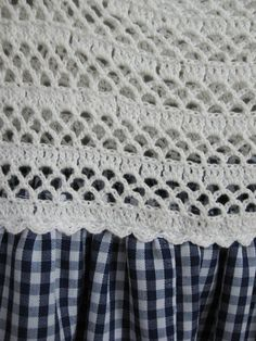 Vintage Gingham Girls Dress / Blue and White by SoubretteVintage