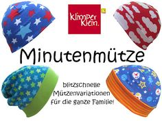 klimperklein: Mützenwetter = Minutenmützen Probenähen