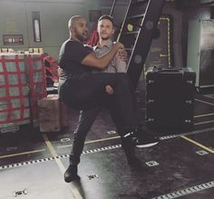 Iain and Henry - Agents of SHIELD BTS