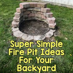 Super Simple Fire Pit Ideas For Your Backyard Diy Fire Pit, Fire Pit Backyard, Fire Pits, Diy Home Crafts, Art Crafts, Fire Pit Plans, Garden Art, Home And Garden, Outdoor Landscaping