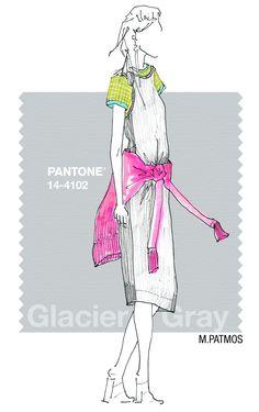 M.PATMOS in Pantone Glacier Gray - SPRING 2015 PANTONE's #FashionColorReport