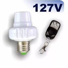 bocal soquete p/ lâmpada c/ controle remoto wireless rf 127v