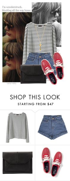 """★ today is swiftday ★"" by vania-hefira ❤ liked on Polyvore featuring Wood Wood, John Lewis, Keds, Rebecca Minkoff, taylorswift, stripes, shorts and keds"