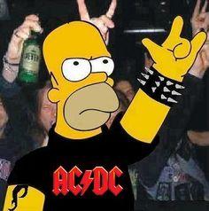 Love Homer and Metallica! Bon Scott, Brian Johnson, Hard Rock, Angus Young, Ps2 Slim, Ac Dc Rock, The Rev, Metalhead, The Simpsons