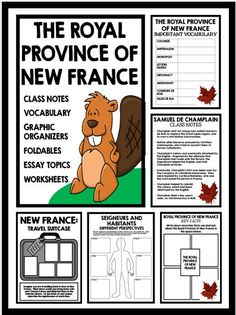 New France: Travel Suitcase: Students imagine they are traveling back from New France, and illustrate items they plan to bring back with them. After, students must write about the historical significance of each item. Social Studies Resources, Teaching Social Studies, Teaching History, Nonfiction Text Features, High School Activities, Fur Trade, School Tool, Middle School English, Class Notes