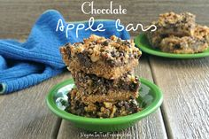 Chocolate Apple Bars ~ http://veganinthefreezer.com