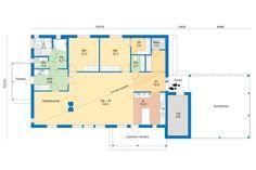 4 Hailuoto 153a | Asuntomessut Floor Plans, Diagram, Floor Plan Drawing, House Floor Plans
