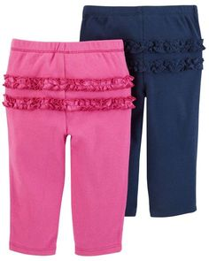 c1708d3499a67 Baby Girl 2-Pack Pull-On Pants from Carters.com. Shop clothing & accessories  from a trusted name in kids, toddlers, and baby clothes.