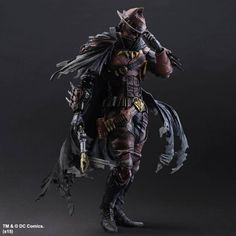 "Square-Enix has unveiled its Wild West Batman action figure, and it's completely badass! This is the first in a line of a new series of Batman figures in their PAK Variant line called ""Batman Timeless."" The series re-imagines the Dark Knight throughout a variety of historical eras. Some of the other figures will include Spartan Batman, a Medieval Knight Batman, and Steampunk Victorian Batman."