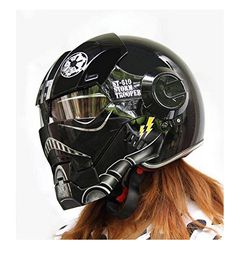 Custom Motorcycle Helmet Conversions - The Iron Man Motorcycle Helmet Custom Motorcycle Helmets, Custom Helmets, Motorcycle Style, Motorcycle Outfit, Motorcycle Accessories, Bike Helmets, Women Motorcycle, Motorcycle Quotes, 1200 Gs Adventure