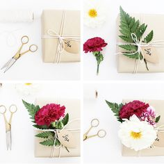 DIY // FLORAL GIFT WRAPPING | Folk & Fest
