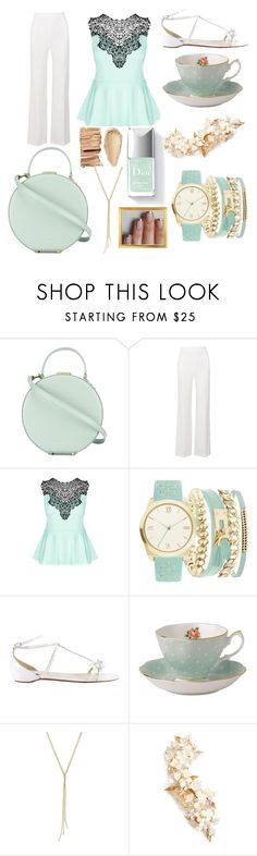 """""""Minty Fresh"""" by letsglambaby ❤ liked on Polyvore featuring Tammy & Benjamin, Roland Mouret, City Chic, A.X.N.Y., Christian Louboutin, Royal Albert and Twigs & Honey"""
