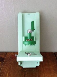 Vintage Wall Mount Mandolin Slicer in Mint Green w/ Crank Kitchen Gadget Cutlery Grater Prep Vegetable Retro Kitschy Food Cheese Tool Prop by Piklandia on Etsy