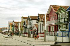 Aveiro - Casas Típicas dos pescadores.