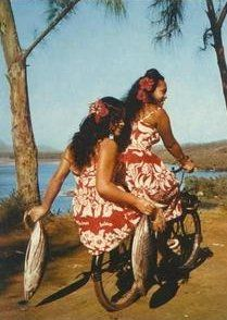 VINTAGE POSTCARDS OF TAHITI & HER ISLANDS