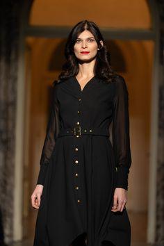 #orovicafashion #orovica #shirtdress #blackdress #altaroma Shirtdress, Every Woman, Timeless Fashion, Fashion Show, Womens Fashion, Shirts, Black, Dresses, Design