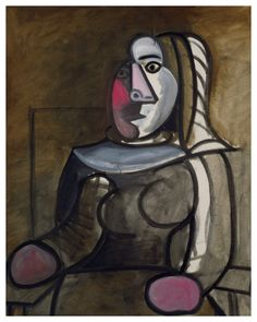 Pablo Picasso - Seated Woman - 1943
