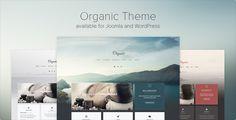 New Organic theme released for Joomla and WordPress