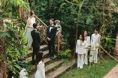A Greenery-Filled Hawaiian Wedding in a Historic Sugar Mill Lesbian Wedding, Beautiful Couple, Celebrity Weddings, Maui, Bridesmaid Dresses, Bridesmaids, Wedding Inspiration, Wedding Ideas, Hawaiian