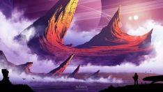Orange Peaks by kvacm on DeviantArt Environment, Waves, Deviantart, Orange, Illustration, Outdoor, Color, Outdoors, Colour
